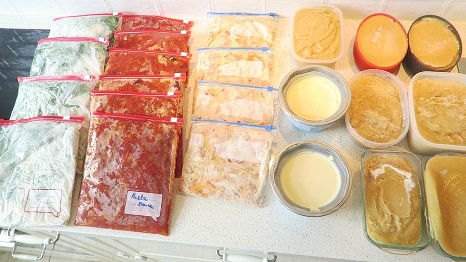 Заготовка еды на месяц полуфабрикаты